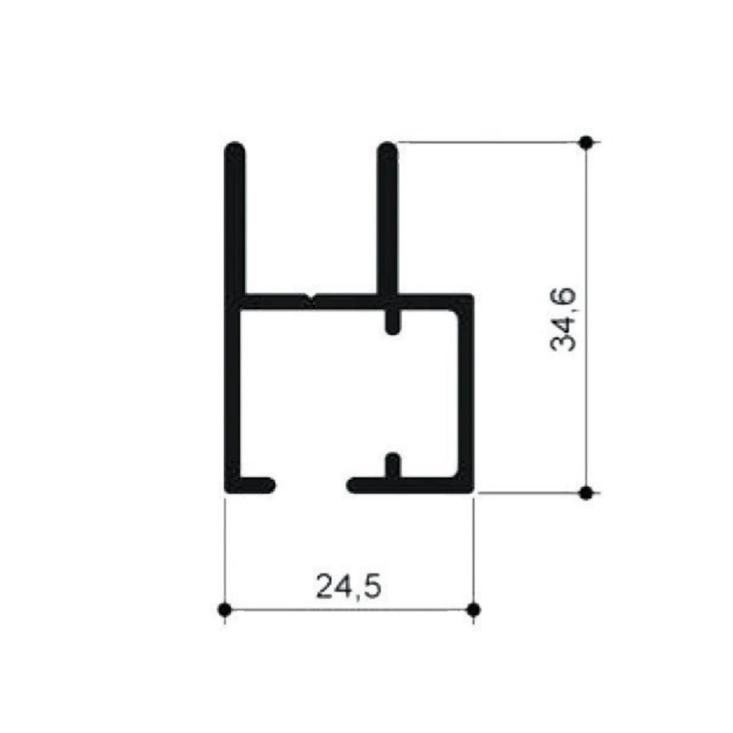zarge f r 2 flg schiebt r f r schiebet ren. Black Bedroom Furniture Sets. Home Design Ideas