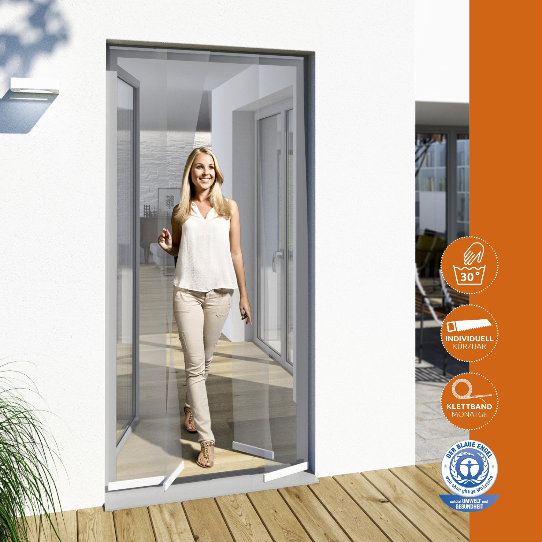 windhager fliegengitter t rvorhang in wei teso insektenschutzsysteme. Black Bedroom Furniture Sets. Home Design Ideas